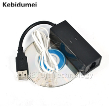 Kebidumei Dial Up Voice External USB 2.0 56kbs USB Fax Modem with Telephone RJ11 Adapter Cable for Windows XP/ Win 7/8/Linux(China)