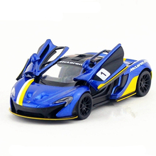 1:36 Scale KINSMART Die cast Metal Sports Car Toy, P1 Racing Cars Model, Pull Back Doors Openable Vehicle, Kids Toy, Juguetes