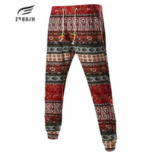 2017 New Men'S Casual Letters Loose Sweatpants Spell Color Printed Family Wind Trousers Joggers Men'S Pants Flowers Plus XXXL