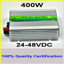 400W 24-48VDC MPPT Grid Tie Inverter,400-480W 36V DC to AC 120V or 230V Pure Sine Wave Output Solar Wind Power Home Use Inverter(China)