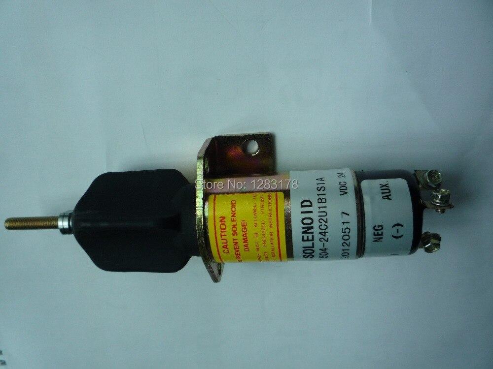Woodward solenoid 1504-24 1504-24C2U1B1S1 (24V 3 terminals)<br>