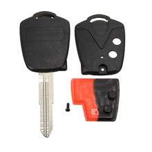 Uncut Blade 2 Buttons Remote Switch Car Key Case Shell Fob 47mm Blade  For Proton