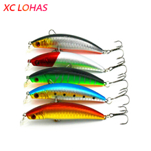 9cm 8.3g Laser Reflective Artificial Fishing Lure Hard Plastic Minnow Bait 3D Fish Eye Fake Baits MI091