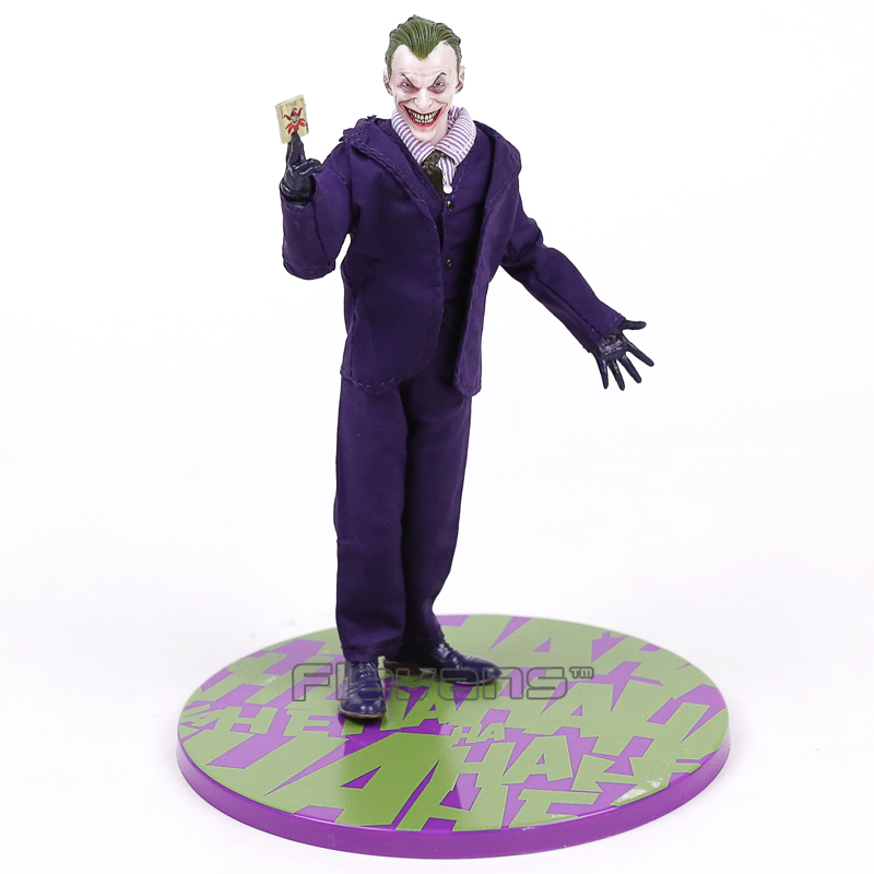 Batman The Joker Action Figures 1:12 With Real Clothing MEZCO Movable Model Toy<br>