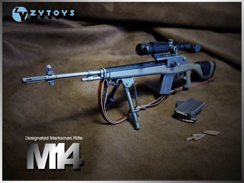 1:6 ABS Gun Model Designated Marksman Sniper Rifle M14 for Soldier Figure Accessory Collections(China (Mainland))