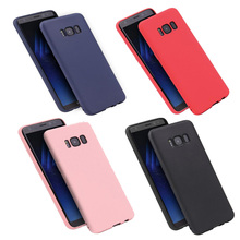 Candy Color Silicone Phone Case Cover Samsung Galaxy S6 S7 Edge S8Plus S9Plus J2 Prime A3 A5 A7 J3 J5 J7 2015 2016 2017