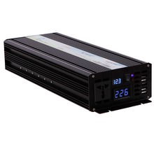 2500W Solar Inverter Pure Sine Wave Inverter 12V 220V Portable Car Power Inverter Converter 12V/24V/48V DC to 120V/220V/240V AC(China)