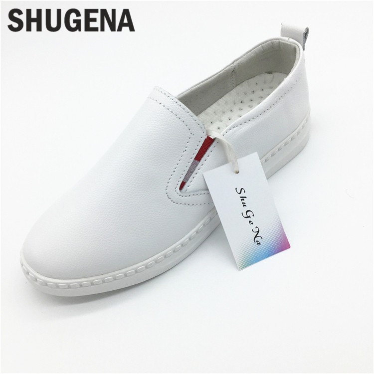 C new Summer genuine leather women flats shoes female casual flat women loafers shoes slips leather black flat womens shoes<br>