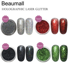 2.5g/pot, 0.2mm (1/128 008) Holographic Laser Glitters Powders Dusts Chrome Pigments For Nail ,Tatto Art Decorations.(China)
