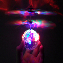 Colorful Flying RC Novelty Toy RC Flying Ball Drone Helicopter Ball Built-in Shinning LED Lighting Antistress for Kids Teenagers(China)