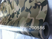 Desert Camouflage Vinyl Car Wrapping Camo Film Sticker Air Free Bubbles Free Ship Size 1.52x30m/Roll(China)
