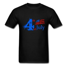 Vintage 4th of July Patriotic T Shirts Men Screen Printed Short-sleeved Round Neck Soft Cotton Tees Shirt Adult Plus Size