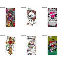BobSdrunk Soft Silicone TPU Transparent Coque Case Capa Ed Hardy For Apple iPhone X 8 7 6S 6 SE 5C 5S 5 4S 4 Plus(China)