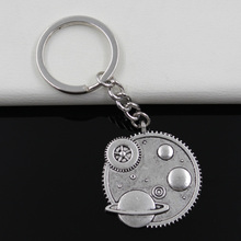 Keychain 37mm solar system galaxy Pendants DIY Men Jewelry Car Key Chain Ring Holder Souvenir For Gift(China)
