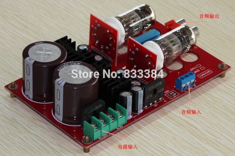 Free shipping Pre - AMP Peramplifier included 2pcs Tube 6N11<br>