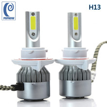 POPNOW Pair H13 Auto COB LED Headlight Bulb Hi-Lo Beam Bulbs 72W White For Dodge Caliber 2007-2012 Challenger 2010-2014#7051(China)