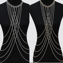 New Fashion Sexy Girls Bikini Body Chains Ladys Women Charming Silver Tassel Sexy Necklace Belly Chains Jewelry(China)