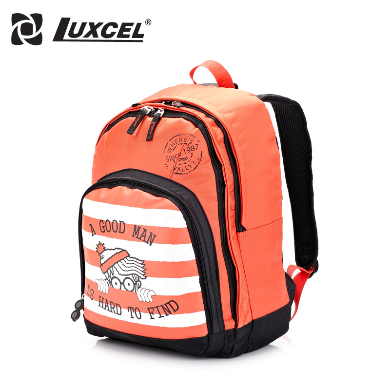 Luxcel Wally Red Lovely Artwork Casual Teenage School backpack Mochila with laptop polyester L<br><br>Aliexpress
