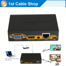 HDMI wifi transmitter wireless wifi PC to HDMI VGA HDTV converter transmitter over WIFI ethernet cable(China)