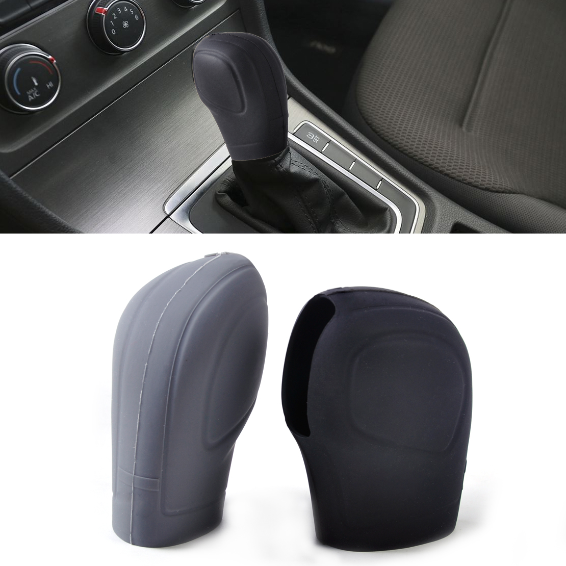 1pc New Car AT Automatic Gear Head Shift Knob Cover Case for Volkswagen VW Golf Beetle Passat Polo Jetta 2011+ Auto Eco Silicone(China (Mainland))