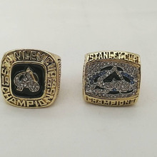 Cost Price Ring sets Replica Alloy 2pcs/Packs Colorado Avalanche Championship Ring for Fans(China)