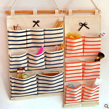 Sundry Cotton Wall Hanging Organizer Bag Multi-layer Holder Storage Bag Home Decoration Makeup Rack Linen Jewelry 897071