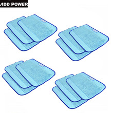 Microfiber 12-Pack Pro-Clean Mopping Cloths for Braava Floor Mopping Robot irobot Braava Minit 4200 5200 5200C 380 380t(China)
