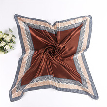 Women 90*90cm satin Square Scarf High Quality Imitated Silk Satin Shawl Hijab fashion style