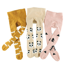 Cute Animal&Geometric Kids Girls Tights Pantyhose Stocking Cotton Children Baby Boy Tights Stockings Toddler Pantyhose For 0-3 Y(China)
