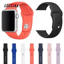 COCOTINA Hot Sale Iwatch 42/38mm Band Nice Silicone sport hole strap band For Apple Watch 42mm 38mm LSB01120