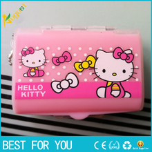 100pcs Novelty hello kitty Portable Pill Box Jewelry storege box pill case stash container storage to collect small items(China)