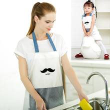 Funny Beard Pattern Parent Child Apron Mother And Daughter Cute Apron Cooking Baking Aprons Kids Bibs Wholesale