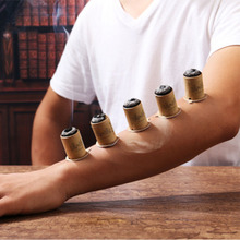 30pcs Over Striking Self-stick Moxa Tube Acupuncture Massage Stick-on Moxibustion Energy Double Treble Elegant Packing