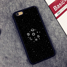 Space Sketch Sun Moon Stars Planets Soft Rubber Phone Cases For iPhone 6 6S Plus 7 7 Plus 5 5S 5C SE 4 4S Cover Bags Skin Shell