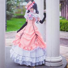 Anime Black Butler Ciel Phantomhive Cosplay Dress Women Cosplay Costumes Lolita Dress (Dress + Hat + Neck Accessory + Gloves)(China)