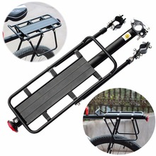 Buy Adjustable Alloy Bicycle Luggage Rack Pannier Bag Bicycle Carrier Rear Seat MTB Bike Stand Support Bike Rack Bicycle Accessories for $25.84 in AliExpress store