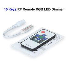 50pcs 12V 10keys RGB LED Dimmer Controller With FR Wireless Remote Control For SMD 3528 5050 5730 RGB LED Rigid Strip