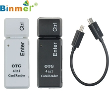 TOP QUALITY New Really Cheap OTG 4 In 1 Smart Card Reader USB2.0 Micro USB For Smart Phone Computer APR 8