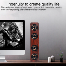 XGODY W8 Wooden Bluetooth Speaker Home Theater Audio Receiver Music Center 4 Speakers 12W HIFI Stereo Sound bar for TV PC Phone