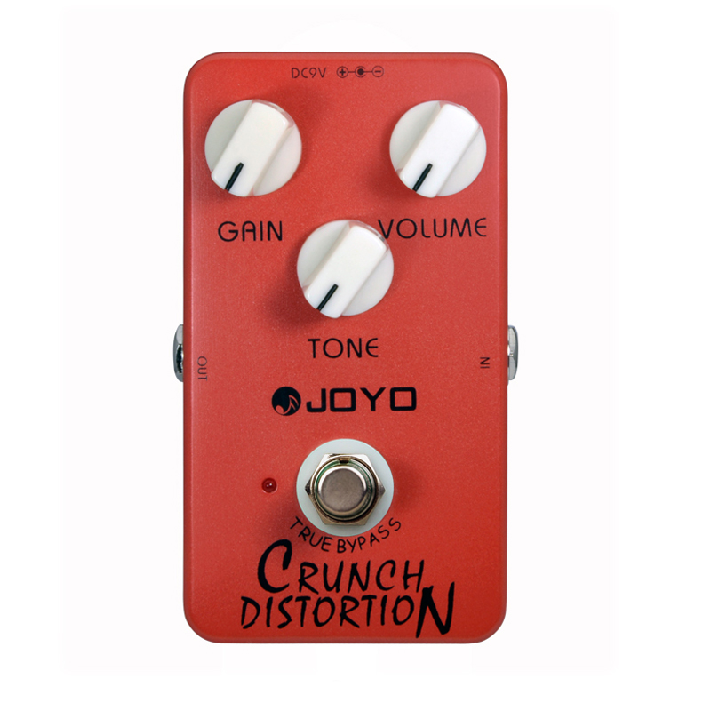 JOYO JF-03 British Classic Rock Crunch Distortion replicates Full-Stack Gain Settings and Tone Guitar Effect Pedal<br>
