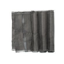 On Sale 3K 200gsm Real Carbon Fiber Cloth 0.2mm Thickness Plain Carbon Fabric for Plane Skis Various Models Decor 50cm Width(China)