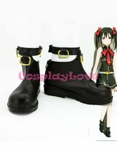 Newest Custom Made Japanese Anime Lovelive! Black Yazawa Nico Bibi Cosplay Shoes Boots For Halloween Christmas(China)