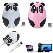 Wired/2.4GHz Wireless Optical Panda Style Computer Mouse Mice Gifts Fit for Windows/2000/2003/XP/Vista/Win7/Linux/Android/Mac(China)