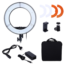 EMS Or DHL Photo Studio lighting 180PCS LED Ring Light 5500K Camera Phone Video Light Photography Dimmable Ring Lamp(China)