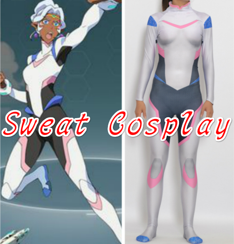 High Quality Voltron Legendary Defender Princess Allura Costume Spandex Lycra Suit Halloween Cosplay Costume