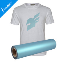 Q1-3 Kenteer Glossy Light Pearl Heat Transfer Vinyl Cheap Price For Jersey 0.5*25m/Roll