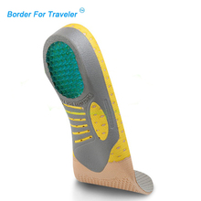 s002 Functional arch insoles shock absorption orthopedic pad for running sporting foot pain relieve shoe pads(China)
