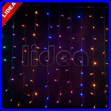 3M*3M 300 LED Wedding Garden Christmas Garland String Icicle Outdoor Waterfall Fairy Decoration Curtain New Year Light HK C-38(China)