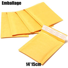 Wholesale 14*15cm Bubble Bag Filling Yellow Envelope Bag Mail Bag Fragile Parcel Transport Packaging PP601