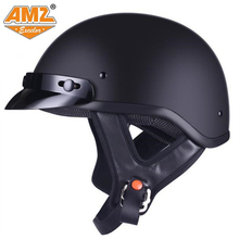 AMZ spring and summer half helmet Hare retro men and women general motorcycle helmet electric car locomotive four seasons light(China)